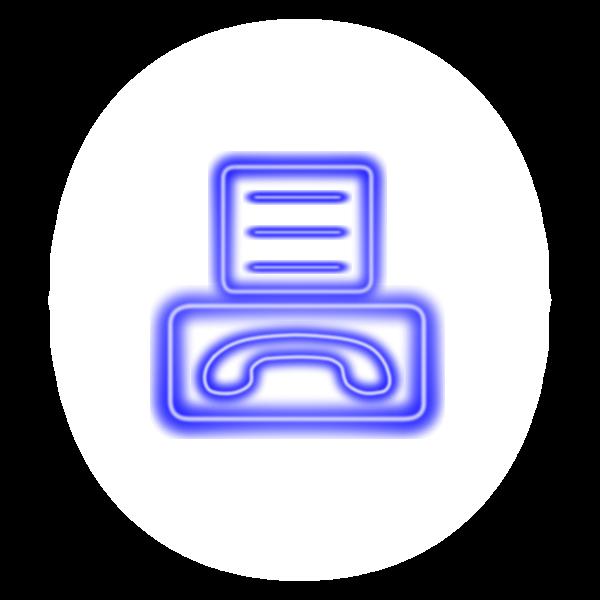 Fax icon neon effect