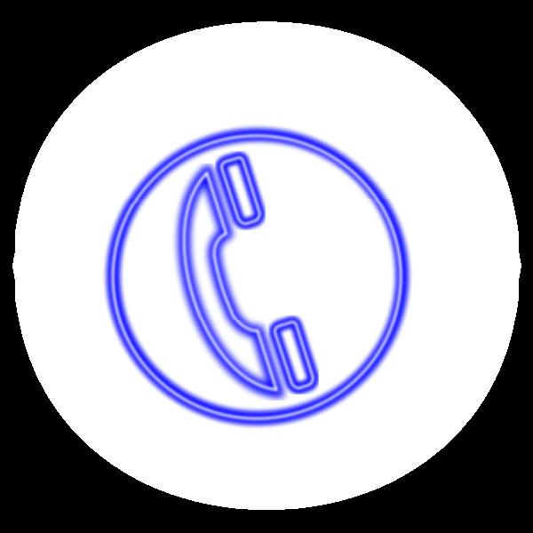 Phone icon neon effect