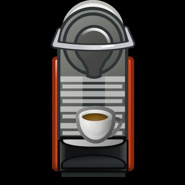 Coffee machine drawing