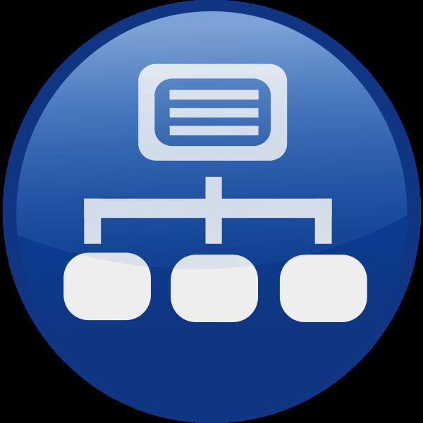 Network vector icon image