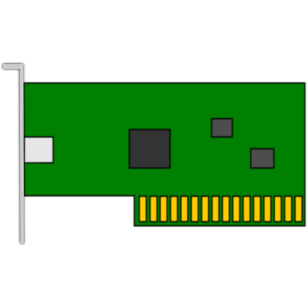Vector drawing of basic PCI network card