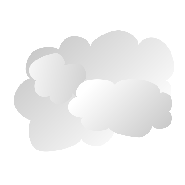 Simple cloud sign vector illustration