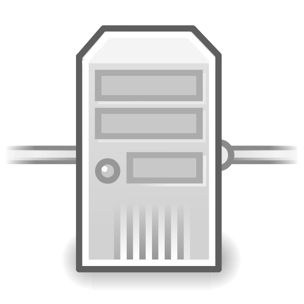 Tango network server vector icon