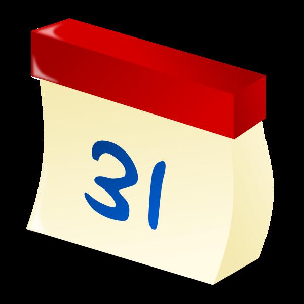 Wall calendar date vector image