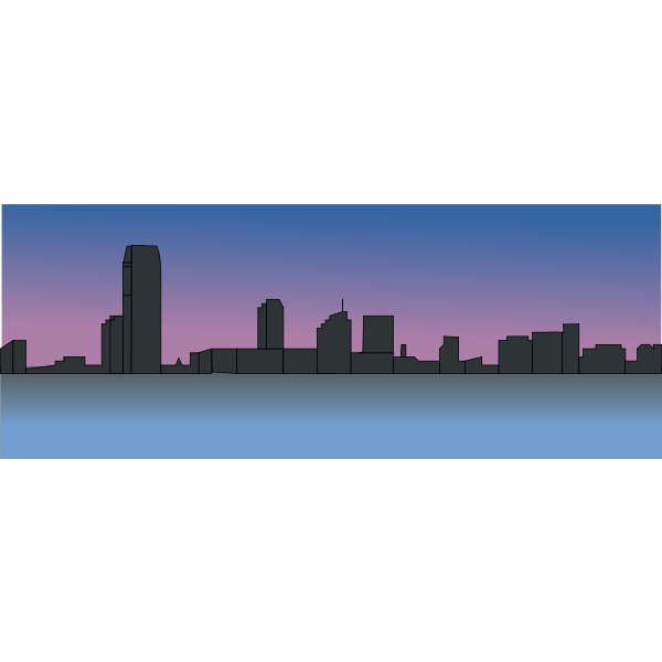 New Jersey skyline vector drawing