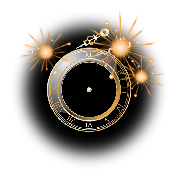 New Year celebration clock vector image
