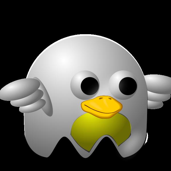 White Bird padepokan vector illustration