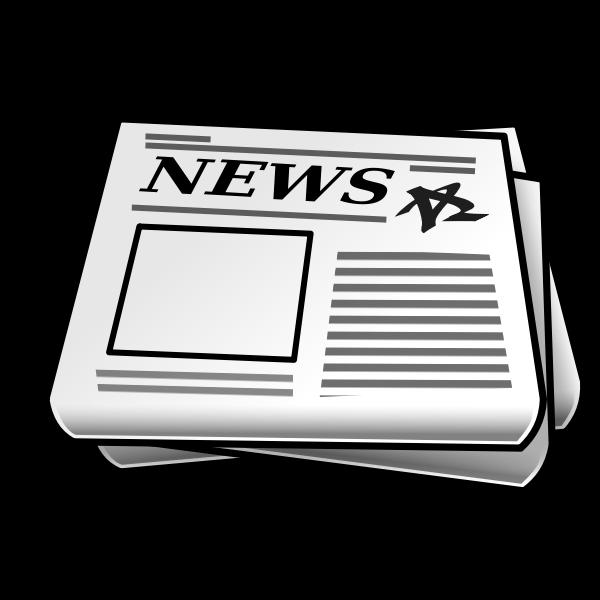 Vector illustration of newspaper icon