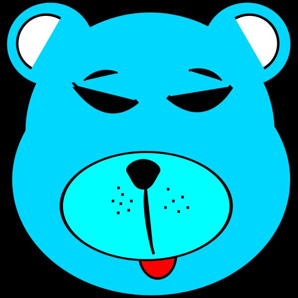 Vector clip art of simple blue bear face