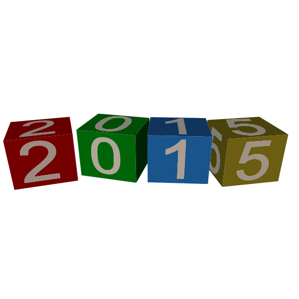 New Year 2015 cubes vector graphics