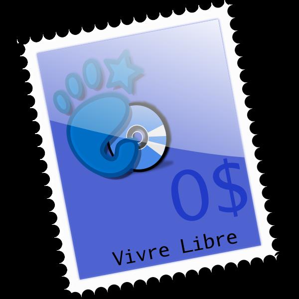 0$ postage stamp vector clip art