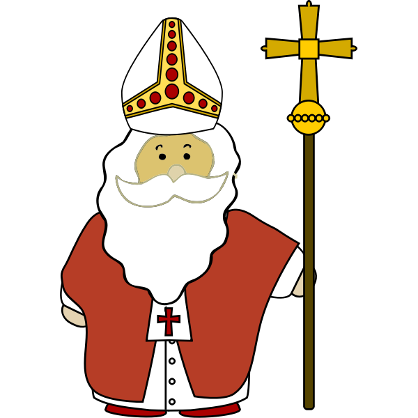 St Nicholas with his cross vector image