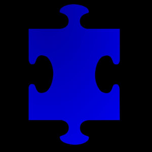 Vector clip art of puzzle piece 1