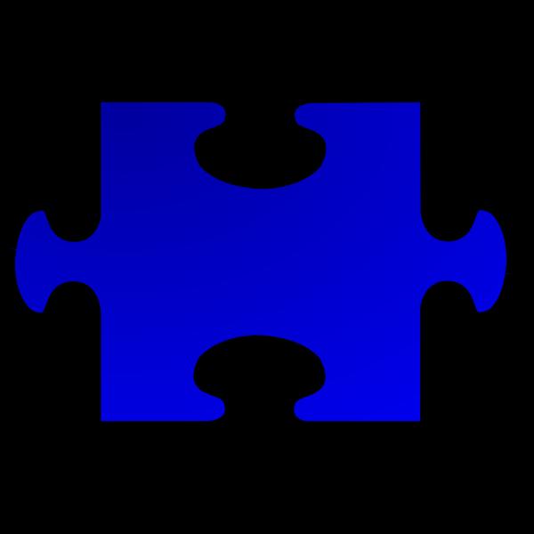 Vector image of puzzle piece 2