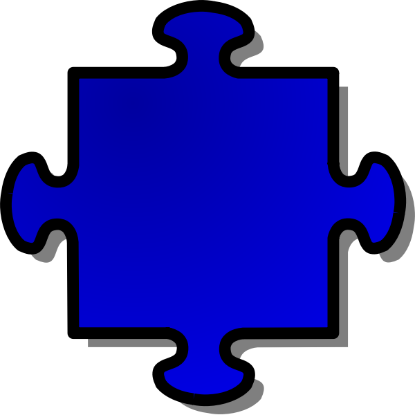 Vector drawing of puzzle piece 4
