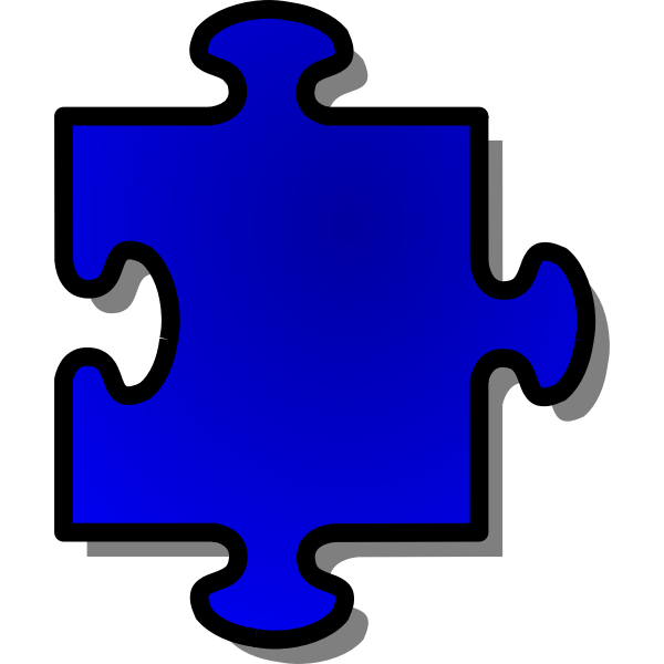 Vector graphics of puzzle piece 5