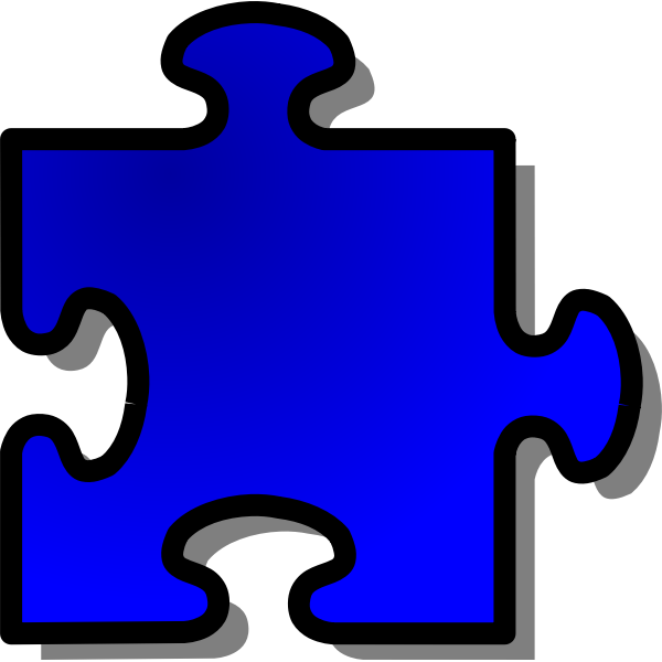nicubunu Blue Jigsaw piece 09