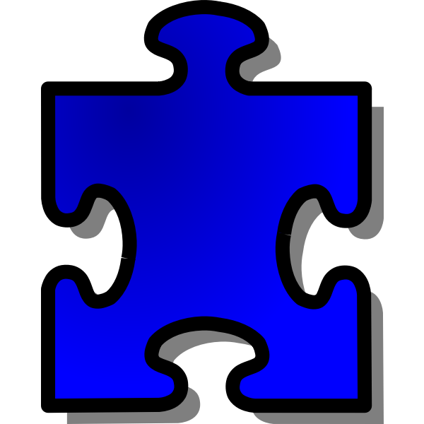 nicubunu Blue Jigsaw piecev13