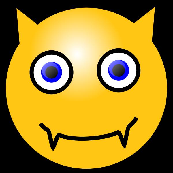 Vector image of devilish emoticon