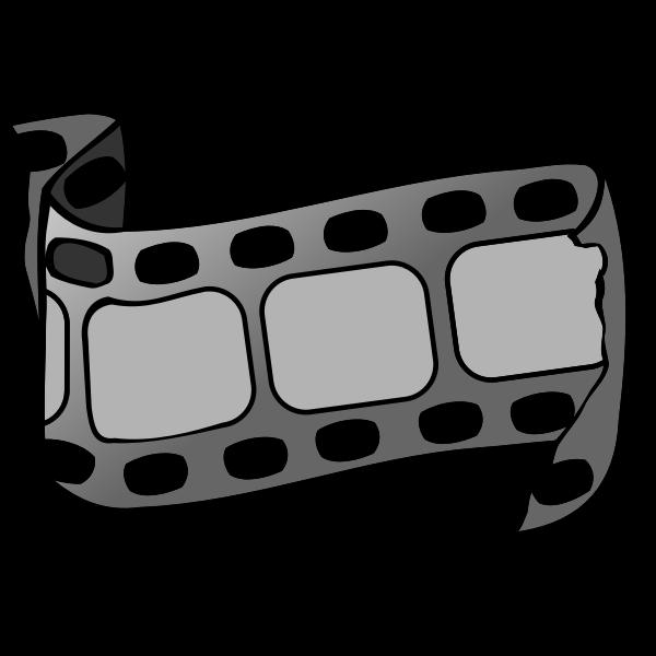 Vector drawing of torn film strip
