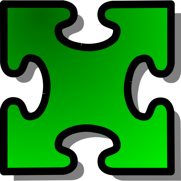 nicubunu Green Jigsaw piece 03