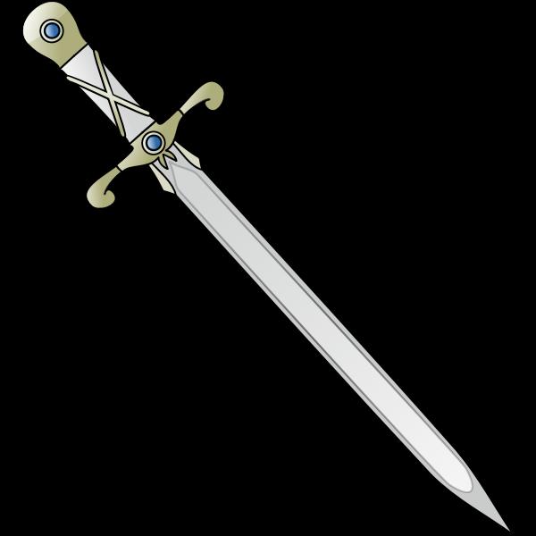 Long sharp sword tilted vector image