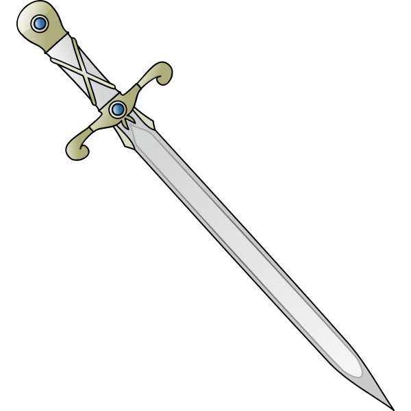 Long sharp sword tilted vector image