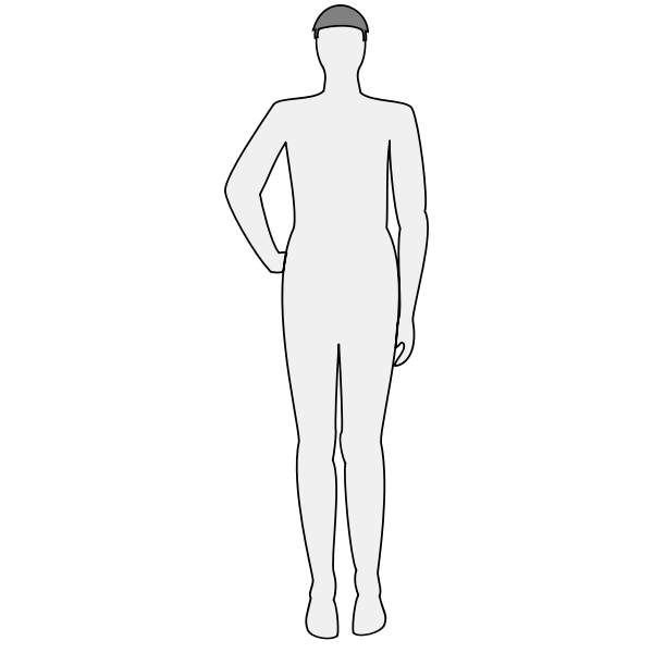 Male body silhouette - front