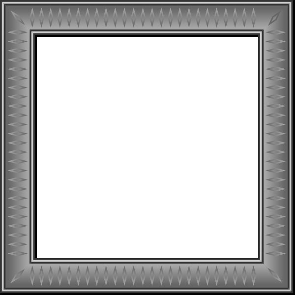 Vector drawing of square frame with rhomboid decorations