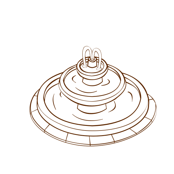 Vector image of role play game map icon for a fountain