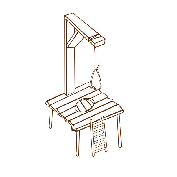 Vector image of role play game map icon for gallows