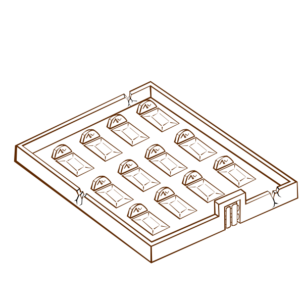 Vector drawing of role play game map icon for a graveyard