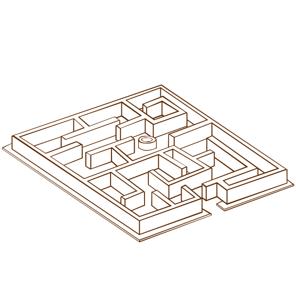 Vector clip art of role play game map icon for a maze