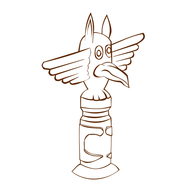Vector illustration of role play game map icon for a totem