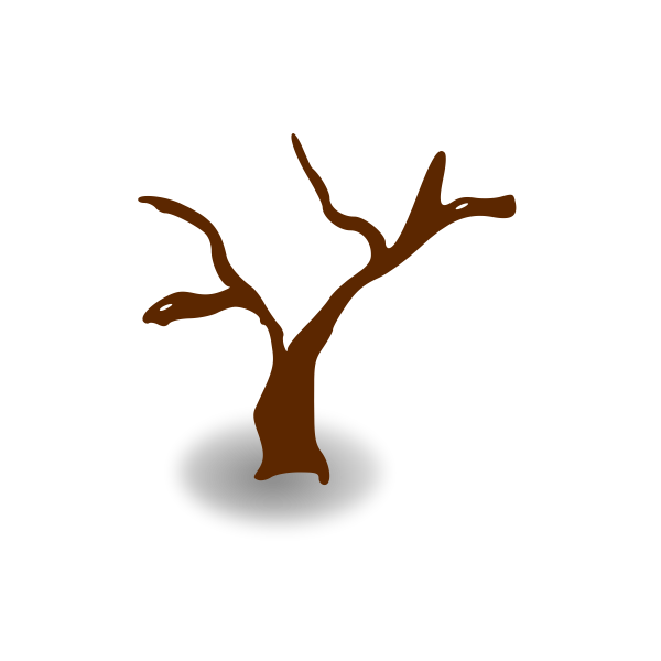RPG map symbols: deserted tree