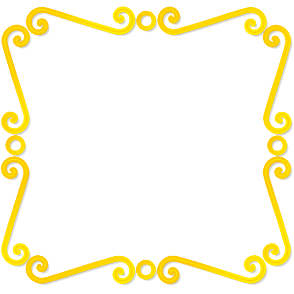 Vector drawing of thin golden mirror frame