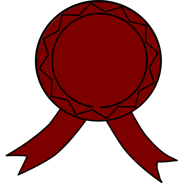 Vector illustration of brown award ribbon
