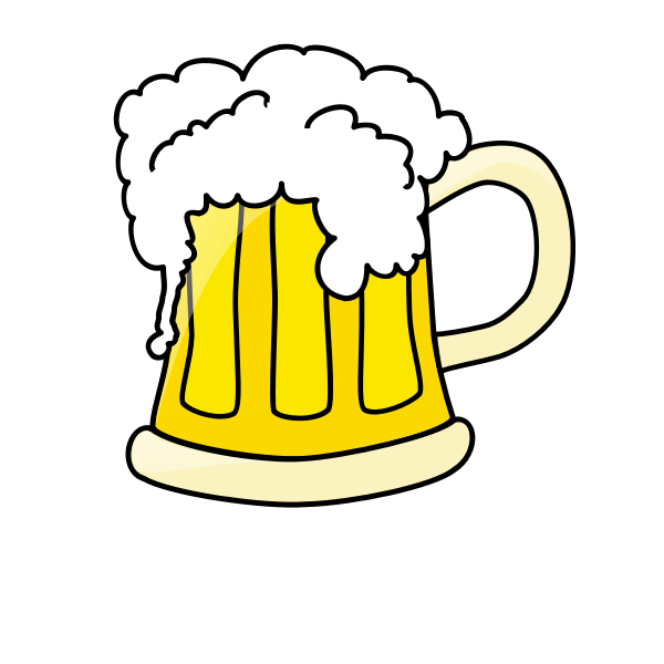 Beer mug clip art vector