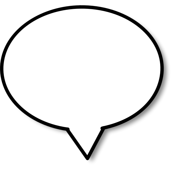 Round shaped callout vector image