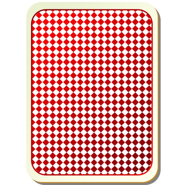 Grid red playing card vector image
