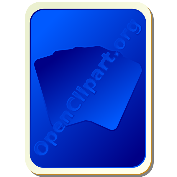Back of blue playing card vector image