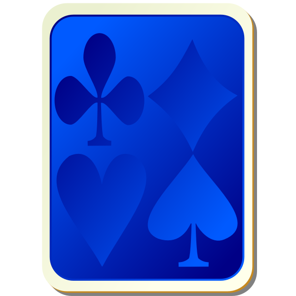 Playing card back blue vector clip art