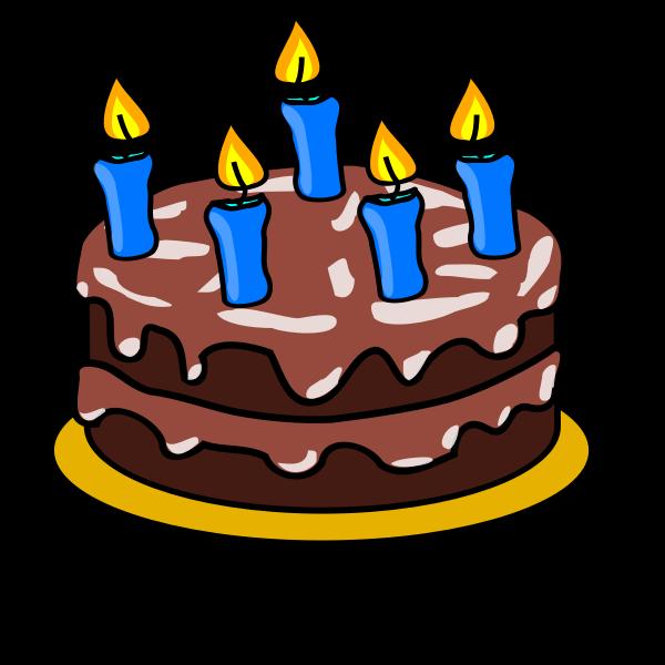 Birthday cake vector drawing