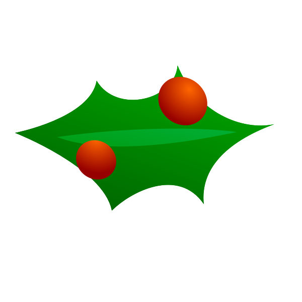 Christmas leaf decoration vector