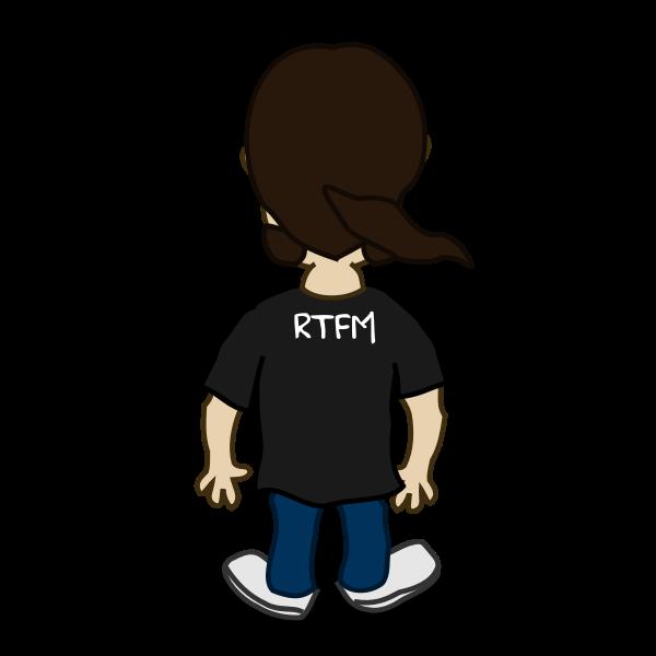 Comic character vector image