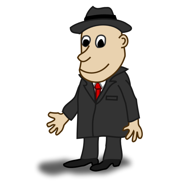 Businessman comic character vector image