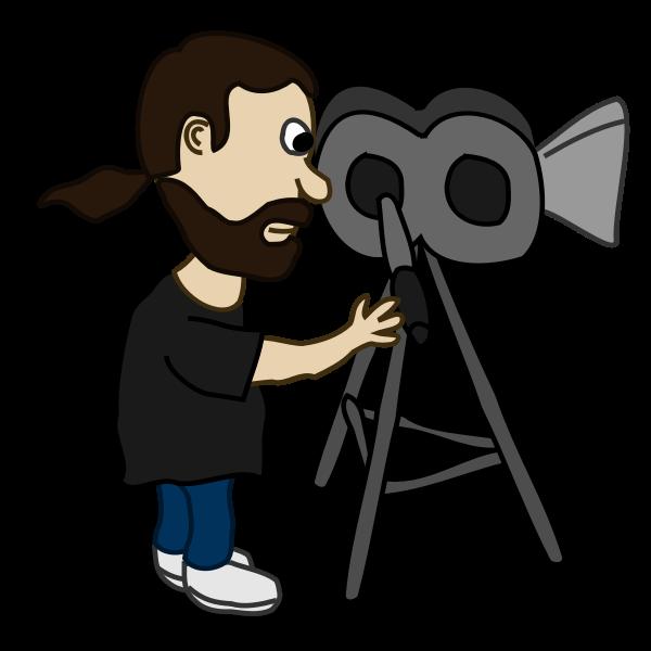 Filmmaker comic character vector image