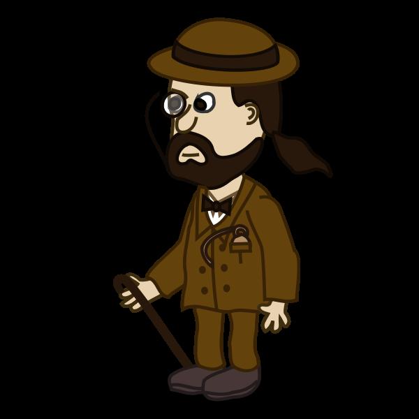 Gentleman comic character vector image