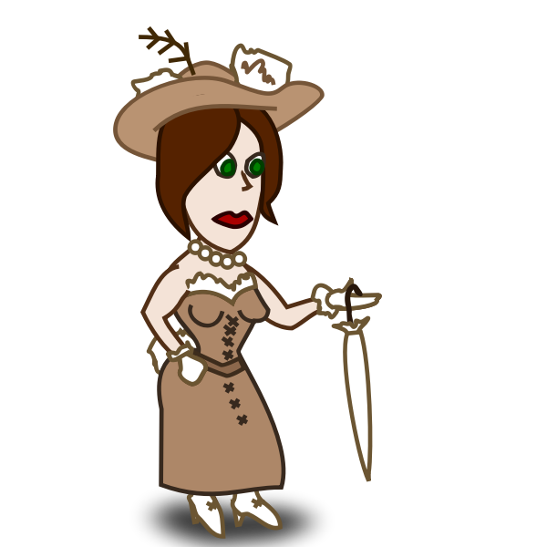 Lady comic character vector image