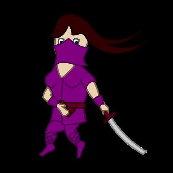 Ninja comic character vector image
